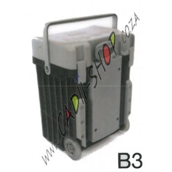 Cadii School Bag - B03 (Grey Lid - Black Body)