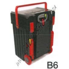 Cadii School Bag - B06 (Black Lid - Black Body -Red Trimmings)