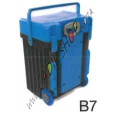 Cadii School Bag - B07 (Blue Lid - Black Body)