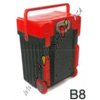 Cadii School Bag - B08 (Red Lid - Black Body)