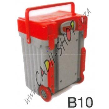 Cadii School Bag - B10 (Red Lid - Grey Body)