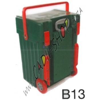 Cadii School Bag - B13 (Green Complete - Red Trimmings)