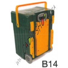 Cadii School Bag - B14 (Green Complete - Yellow Trimmings)