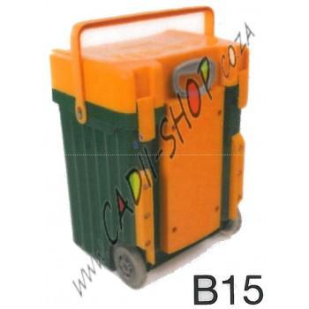 Cadii School Bag - B15 (Mustard Lid - Green Body)