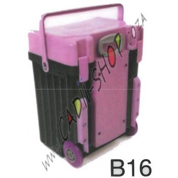 Cadii School Bag - B16 (Lilac Lid - Black Body)