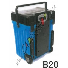 Cadii School Bag - B20 (Black Lid - Light Blue Body)
