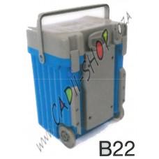 Cadii School Bag - B22 (Grey Lid - Light Blue Body)