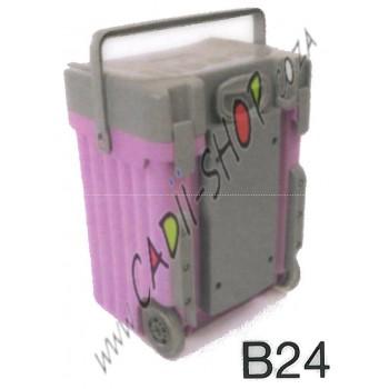 Cadii School Bag - B24 (Grey Lid - Lilac Body)