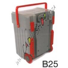 Cadii School Bag - B25 (Grey Complete - Red trimmings)