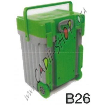 Cadii School Bag - B26 (Light Green Lid - Grey Body)