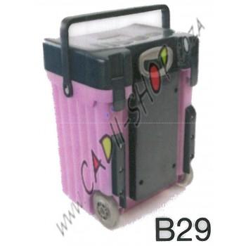 Cadii School Bag - B29 (Navy Blue lid - Lilac Body)