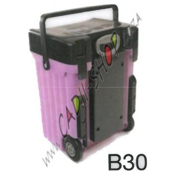 Cadii School Bag - B30 (Black Lid - Lilac Body)