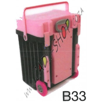 Cadii School Bag - B33 (Pink Lid - Black Body)