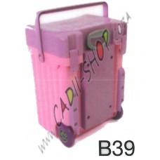 Cadii School Bag - B39 (Lilac Lid - Pink Body)