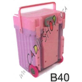 Cadii School Bag - B40 (Pink Lid - Lilac Body)