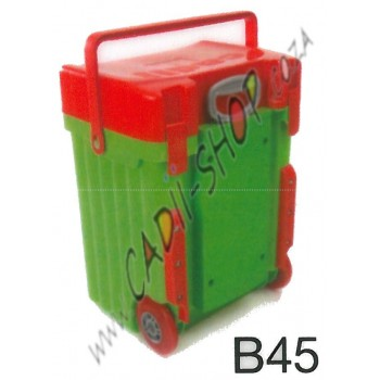 Cadii School Bag - B45 (Red Lid - Green Body)