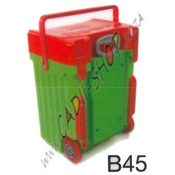 Cadii School Bag - B45 (Red Lid - Green Body)