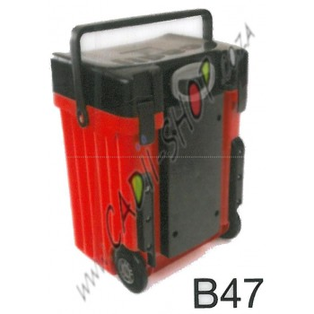 Cadii School Bag - B47 (Black Lid - Red Body)
