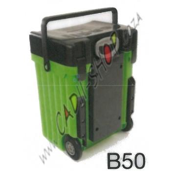 Cadii School Bag - B50 (Black Lid - Green Body)