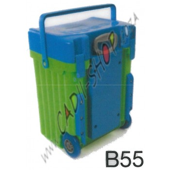 Cadii School Bag - B55 (Blue Lid - Green Body)