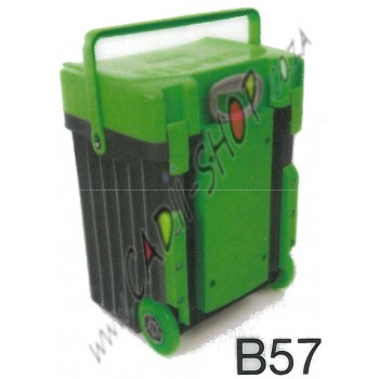 Cadii School Bag - B57 (Green Lid - Black Body)
