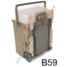 Cadii School Bag - B59 (Pearl Lid - Khaki Body)