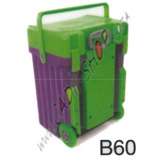 Cadii School Bag - B60 (Green Lid - Purple Body)