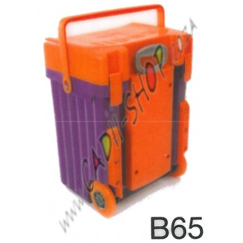 Cadii School Bag - B65 (Orange Lid - Purple Body)