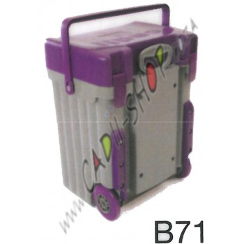 Cadii School Bag - B71 (Purple Lid - Grey Body)