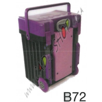 Cadii School Bag - B72 (Purple Lid - Black Body)