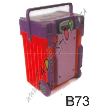 Cadii School Bag - B73 (Purple Lid - Red Body)