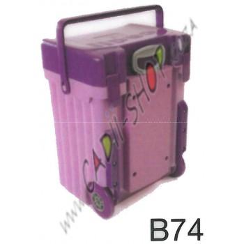 Cadii School Bag - B74 (Purple Lid - Lilac Body)
