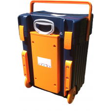 Cadii School Bag Custom made - CS01 (Navy Blue Lid - Navy Blue Body Orange Trimmings)