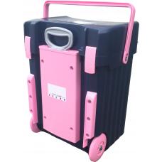Cadii School Bag Custom made - CS04 (Navy Blue Lid - Navy Blue Body Pink Trimmings)