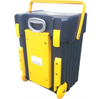 Cadii School Bag Custom made - CS03 (Navy Blue Lid - Navy Blue Body Yellow Trimmings)