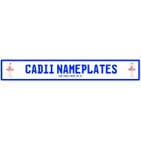 Cadii Custom Name Plate - Ballerina Pink