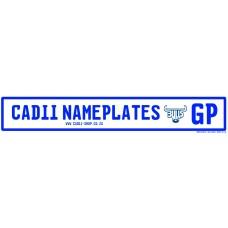 Cadii Custom Name Plate - Blue Bulls Rugby GP Registration Plate
