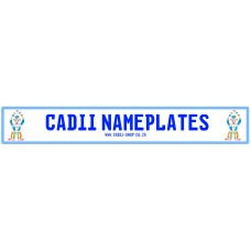 Cadii Custom Name Plate - Clown Blue