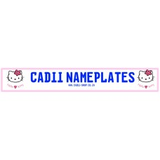 Cadii Custom Name Plate - Hello Kitty Heart
