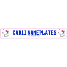 Cadii Custom Name Plate - Hello Kitty Kitten