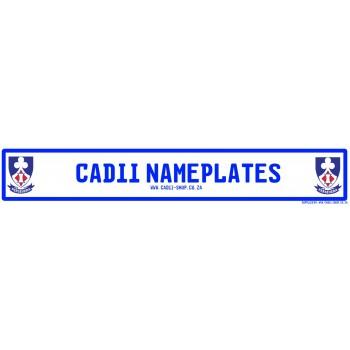Cadii Custom Name Plate - Laerskool Bosveld Primary