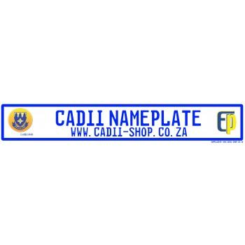 Cadii Custom Name Plate - Laerskool Elardus Park