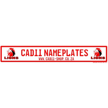 Cadii Custom Name Plate - Lions Rugby