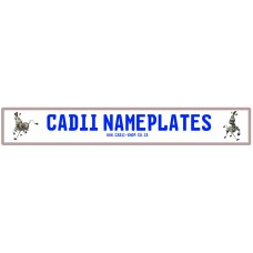 Cadii Custom Name Plate - Marty