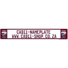 Cadii Custom Name Plate - Midstream Ridge