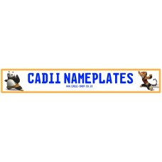 Cadii Custom Name Plate - Panda and Tigress