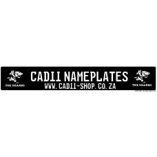 Cadii Custom Name Plate - The Sharks Rugby