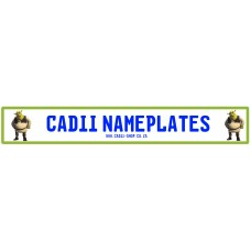 Cadii Custom Name Plate - Shrek