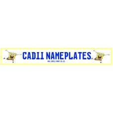 Cadii Custom Name Plate - SpongeBob
