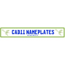 Cadii Custom Name Plate - Sunbird Green